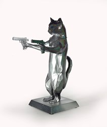 Rebel With The Paws (Hologram) by Maxim - Original Sculpture sized 12x17 inches. Available from Whitewall Galleries